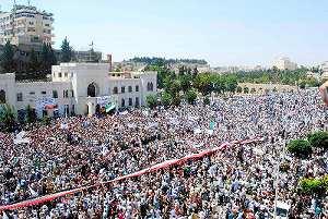 シリアの血塗られた風景が見えてくる……