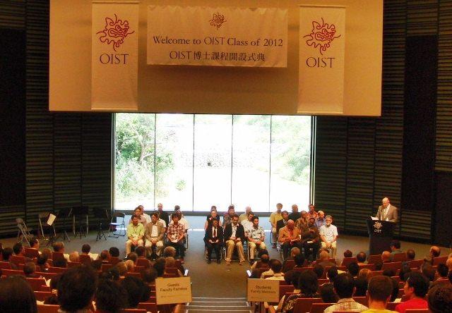 国際色豊かな34人が入学</P>~沖縄科学技術大学院大学のスタート