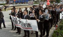 東京のコリアタウンで「反差別の訴え」 声高く