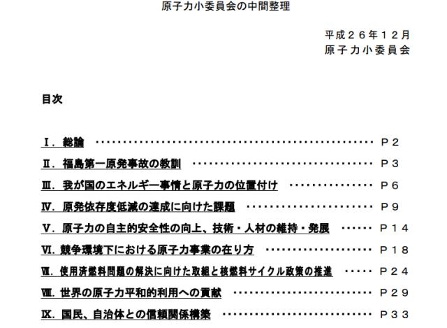 原子力小委の中間整理は「願望リスト」に過ぎない