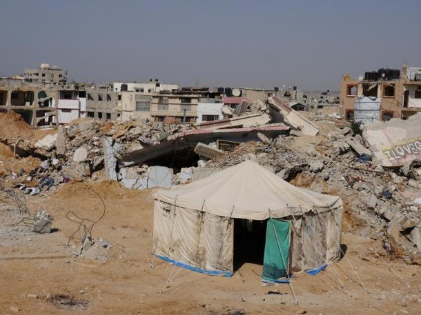 現地報告:イスラエルのガザ攻撃から1年(上)