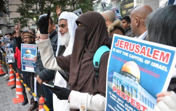 [64]囲いのなかのエルサレム「首都」抗議行動