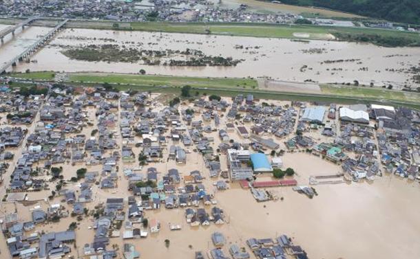 空から見た「西日本大水害」の現場