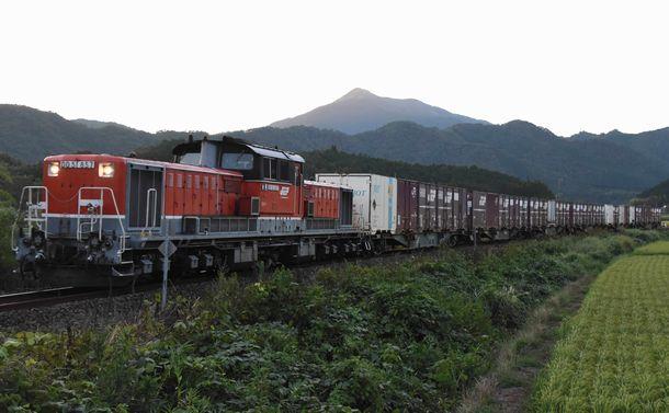 山陽線から山陰線へ迂回運転した貨物列車