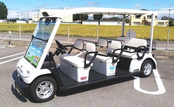 自動運転、過疎地の切り札は「ゴルフカート」