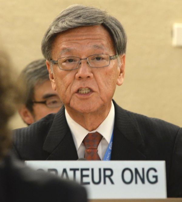 沖縄の翁⻑前知事が菅新政権の喉元に残した「楔」