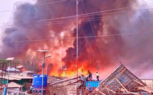 緊急報告:壊滅的な火災に見舞われたロヒンギャ難民キャンプ