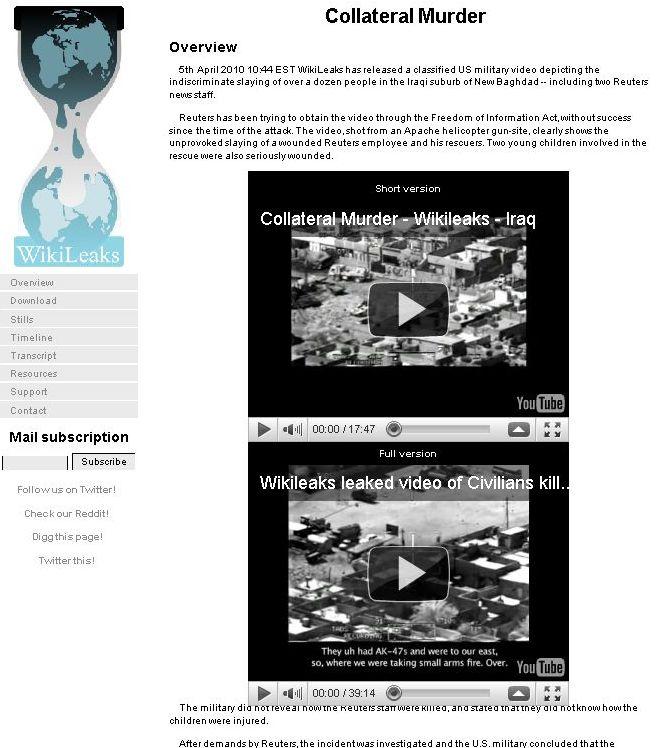 ネットに暴露された米軍ヘリ攻撃ビデオ