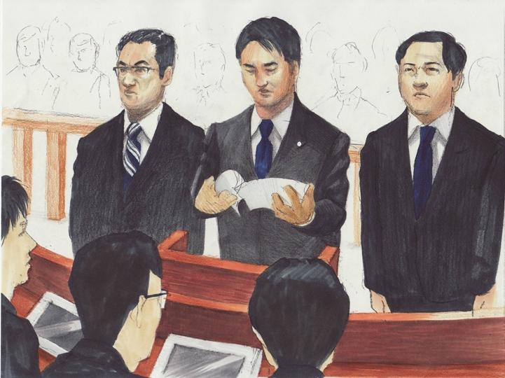 石川知裕衆院議員ら初公判 小沢一郎元民主党代表の政治団体の事件で