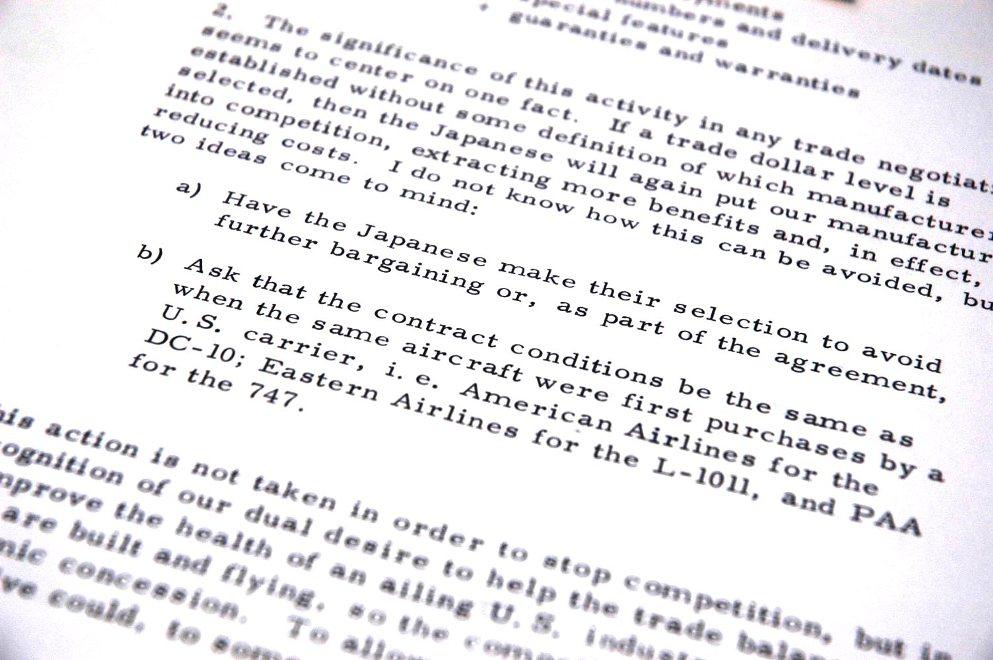 2-4) 「過度の競争を避けるために日米合意に」