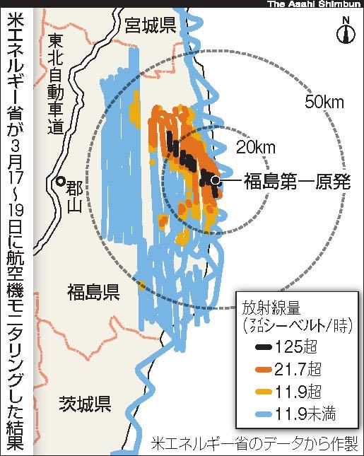 空からの放射能汚染把握、実施できず 福島第一原発事故発生当初