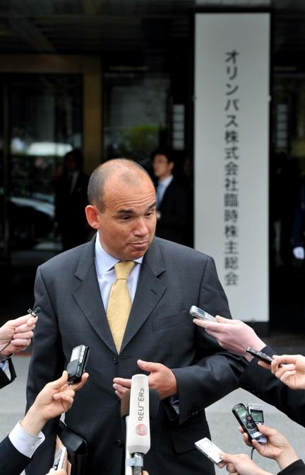 オリンパス臨時株主総会、木本会長を選任、反対33%余 《詳録》