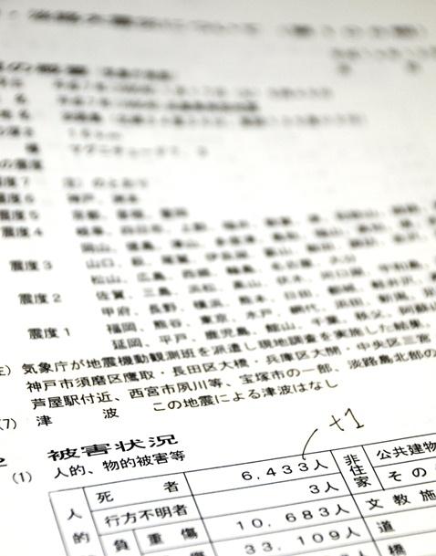 阪神大震災6433人目の死者 最高裁決定で